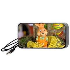Easter Hare Easter Bunny Portable Speaker (Black)