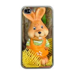 Easter Hare Easter Bunny Apple iPhone 4 Case (Clear)