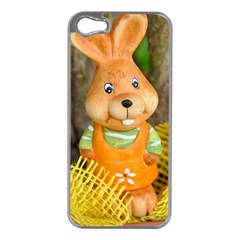 Easter Hare Easter Bunny Apple iPhone 5 Case (Silver)
