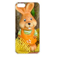 Easter Hare Easter Bunny Apple iPhone 5 Seamless Case (White)