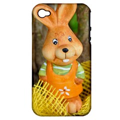 Easter Hare Easter Bunny Apple iPhone 4/4S Hardshell Case (PC+Silicone)