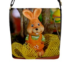 Easter Hare Easter Bunny Flap Messenger Bag (L)