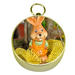 Easter Hare Easter Bunny Gold Compasses