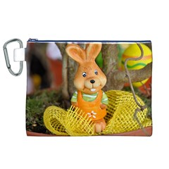 Easter Hare Easter Bunny Canvas Cosmetic Bag (XL)