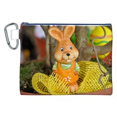 Easter Hare Easter Bunny Canvas Cosmetic Bag (XXL)