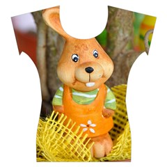 Easter Hare Easter Bunny Women s Cap Sleeve Top