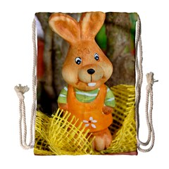 Easter Hare Easter Bunny Drawstring Bag (Large)