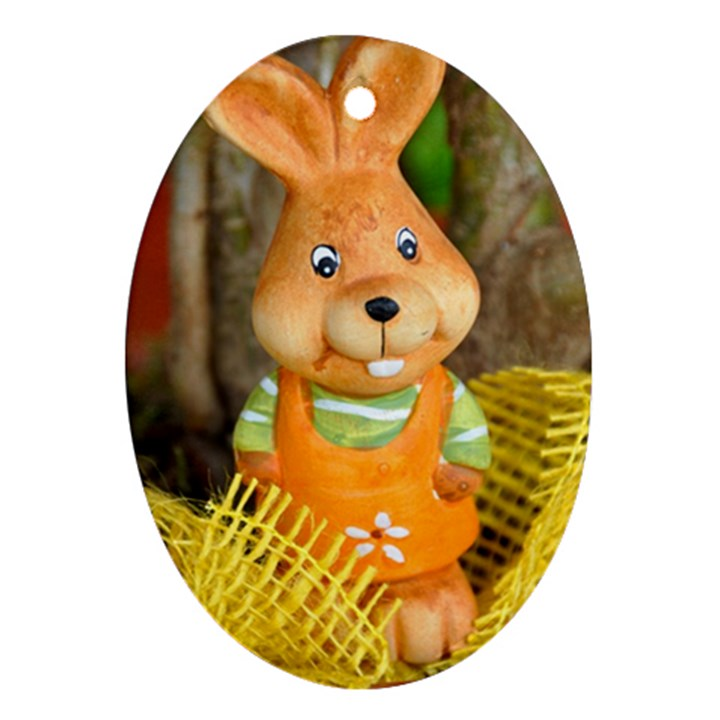 Easter Hare Easter Bunny Ornament (Oval)