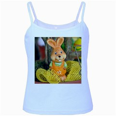 Easter Hare Easter Bunny Baby Blue Spaghetti Tank