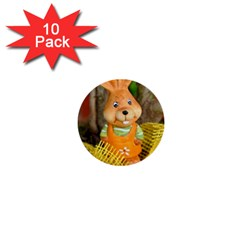 Easter Hare Easter Bunny 1  Mini Buttons (10 pack)