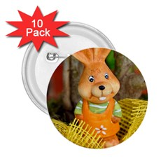 Easter Hare Easter Bunny 2.25  Buttons (10 pack)
