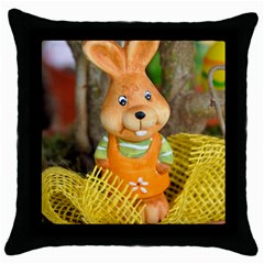 Easter Hare Easter Bunny Throw Pillow Case (Black)