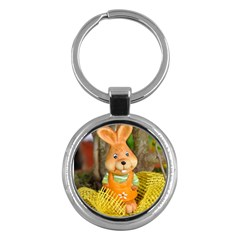 Easter Hare Easter Bunny Key Chains (Round)