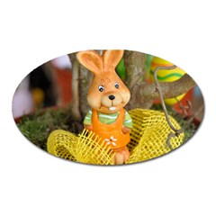 Easter Hare Easter Bunny Oval Magnet