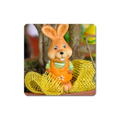 Easter Hare Easter Bunny Square Magnet