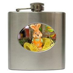 Easter Hare Easter Bunny Hip Flask (6 oz)