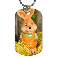 Easter Hare Easter Bunny Dog Tag (Two Sides)