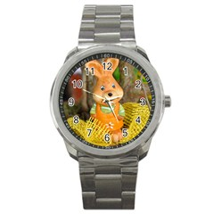 Easter Hare Easter Bunny Sport Metal Watch