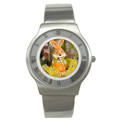 Easter Hare Easter Bunny Stainless Steel Watch