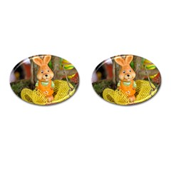 Easter Hare Easter Bunny Cufflinks (Oval)