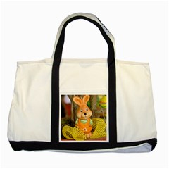 Easter Hare Easter Bunny Two Tone Tote Bag