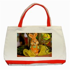 Easter Hare Easter Bunny Classic Tote Bag (Red)