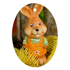 Easter Hare Easter Bunny Oval Ornament (Two Sides)