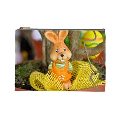 Easter Hare Easter Bunny Cosmetic Bag (Large)