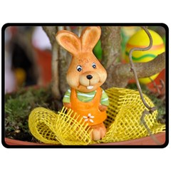 Easter Hare Easter Bunny Fleece Blanket (Large)
