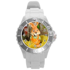 Easter Hare Easter Bunny Round Plastic Sport Watch (L)