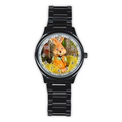 Easter Hare Easter Bunny Stainless Steel Round Watch