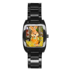 Easter Hare Easter Bunny Stainless Steel Barrel Watch