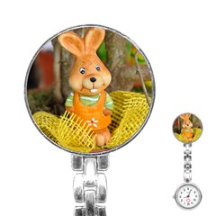 Easter Hare Easter Bunny Stainless Steel Nurses Watch