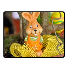 Easter Hare Easter Bunny Double Sided Fleece Blanket (Small)