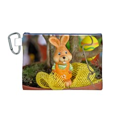 Easter Hare Easter Bunny Canvas Cosmetic Bag (M)