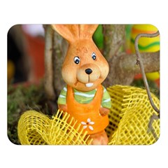 Easter Hare Easter Bunny Double Sided Flano Blanket (Large)