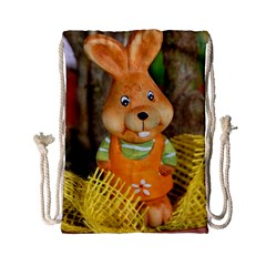 Easter Hare Easter Bunny Drawstring Bag (Small)