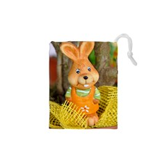 Easter Hare Easter Bunny Drawstring Pouches (XS)