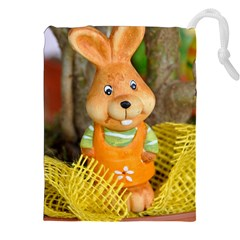 Easter Hare Easter Bunny Drawstring Pouches (xxl)