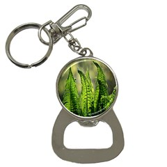 Fern Ferns Green Nature Foliage Button Necklaces