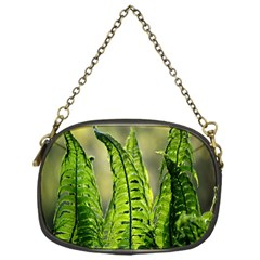 Fern Ferns Green Nature Foliage Chain Purses (One Side)