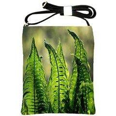 Fern Ferns Green Nature Foliage Shoulder Sling Bags