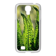 Fern Ferns Green Nature Foliage Samsung GALAXY S4 I9500/ I9505 Case (White)