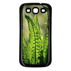 Fern Ferns Green Nature Foliage Samsung Galaxy S3 Back Case (Black)