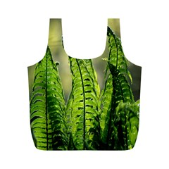 Fern Ferns Green Nature Foliage Full Print Recycle Bags (M)