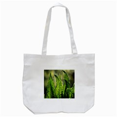 Fern Ferns Green Nature Foliage Tote Bag (white)
