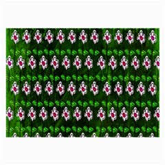 Floral Pattern Large Glasses Cloth (2-Side)
