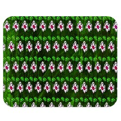 Floral Pattern Double Sided Flano Blanket (medium)