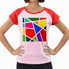 Geometric Blocks Women s Cap Sleeve T-Shirt
