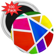 Geometric Blocks 3  Magnets (100 pack)